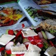 Błyskawiczne piątki - Lekka sałatka z serem pleśniowym