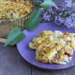 Zapiekanka makaronowa z serem, tuńczykiem i suszonymi pomidorami