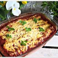 Zapiekanka cannelloni z mięsem i komosą