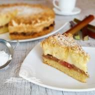 Ciasto z rabarbarem i pianką budyniową