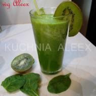 Zielony koktajl ze szpinakiem wg Aleex