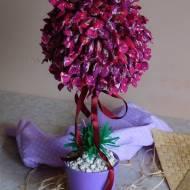 Cukierkowe drzewko- pomysł na prezent DIY