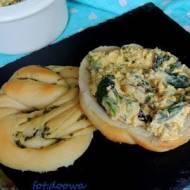Pasta z jajek, szparagów i botwinki