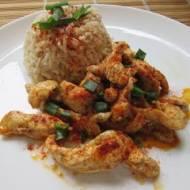 Szybki obiad - gyros z kurczaka z ryżem