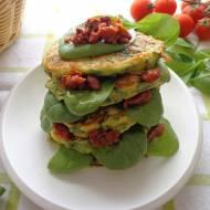 Placuszki ze szpinakiem, prosciutto crudo i ricottą (Pancake con spinaci, prosciutto crudo e ricotta)