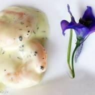 Krewetki w sosie śmietanowym (z miodem i musztardą)