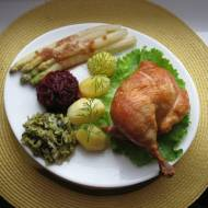 Kurczak peklowany pieczony w całości w piekarniku babci Basi