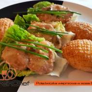 Polędwiczka wieprzowa w sosie śmietanowo-Somersby