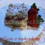 Ciasto z truskawkami i kruszonką wg Aleex