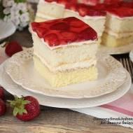 ciasto z serkiem mascarpone i truskawkami