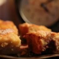 Ciasto z truskawkami i kruszonką z migdałami