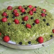 Leśny mech - ciasto ze szpinaku