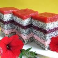 Pasiasty misz-masz truskawkowo-jagodowy