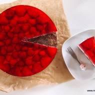 Ciasto śmietankowe z truskawkami - bez pieczenia