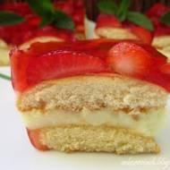 Ciasto truskawkowo - budyniowe