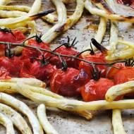 Fasolka szparagowa pieczona z pomidorkami cherry