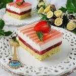 Ciasto truskawkowo śmietankowe