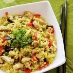 Ryż smażony po chińsku z kurczakiem