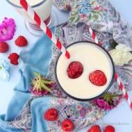Waniliowy milkshake z malinami ( dla dorosłych )