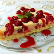 Tarta karmelowo-malinowa