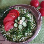 Szybka surówka z kapusty z majonezem babci Basi