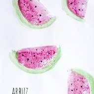 Pieczątki z ziemniaka – arbuz