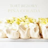 BEZOWY TORT PIÑA COLADA