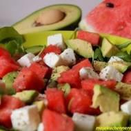 Sałatka z arbuzem, awokado i fetą