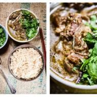 Zielone curry z bakłażanem i gęsią