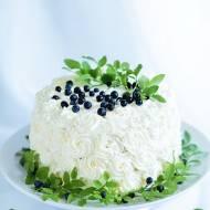 Urodzinowy tort jagodowy