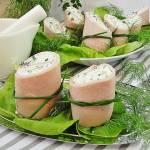 Roladki z szynki z nadzieniem serowo warzywnym
