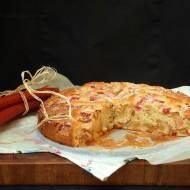 Duńskie ciasto z rabarbarem i marcepanem. I kilka słów o niedogodnościach przeprowadzek