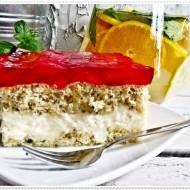Pyszne ciasto z nektarynką i galaretką