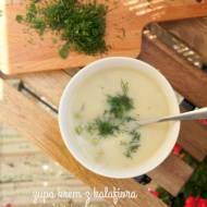 Zupa krem z kalafiorem i groszkiem