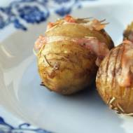 Ziemniaki Hasselback z bekonem