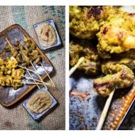 Sataye z kurczaka i wołowiny z sosem orzechowym