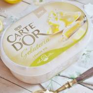 Dwukolorowa Panna Cotta z musem owocowym i lodami Carte d'Or Lemon Pie