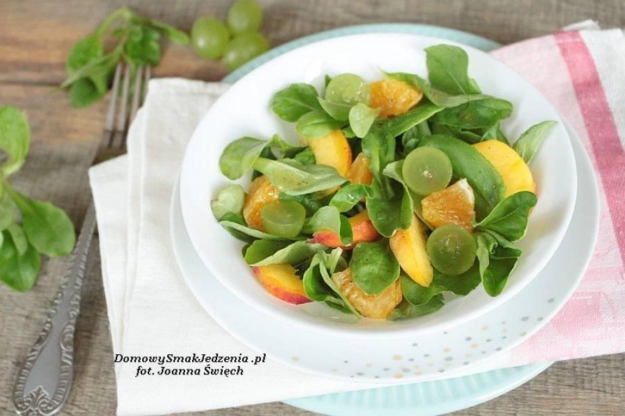 sałatka owocowa z roszponką