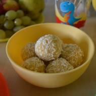 Słodkie kuleczki z kaszy jaglanej.