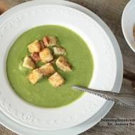 zupa krem szpinakowy z grzankami