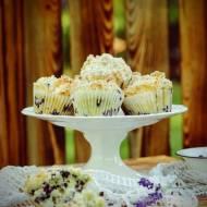 Kokosowe muffinki jagodowe