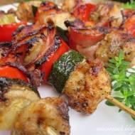 Szaszłyki mięsno - warzywne