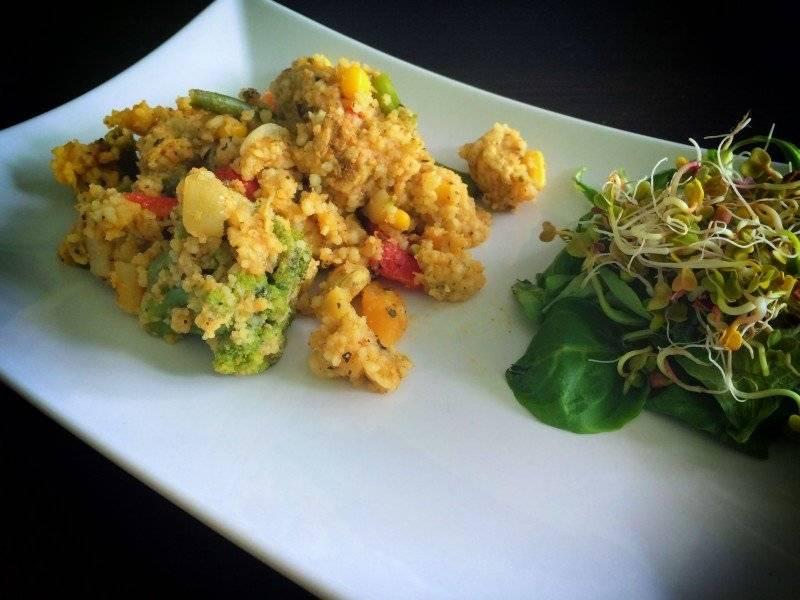 Kuskus z warzywami z patelni