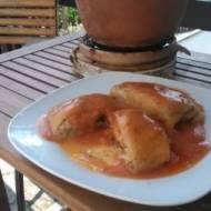 gołąbki wegetariańskie z  kalafiorem i  cukinią