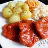 Schab w Sosie Pomidorowym (Bitki Wieprzowe w Sosie Pomidorowym)
