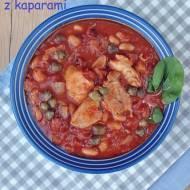 Dorsz w świeżych pomidorach z kaparami