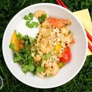 Tajskie curry z krewetkami w sosie orzechowym.