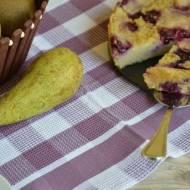 Ciasto jaglane z borówkami, bananem i gruszkami