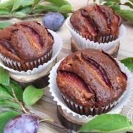 Owsiane muffinki ze śliwkami