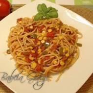 Spaghetti bez Mięsa w Sosie Pomidorowo-Warzywnym | Spaghetti Wegetariańskie